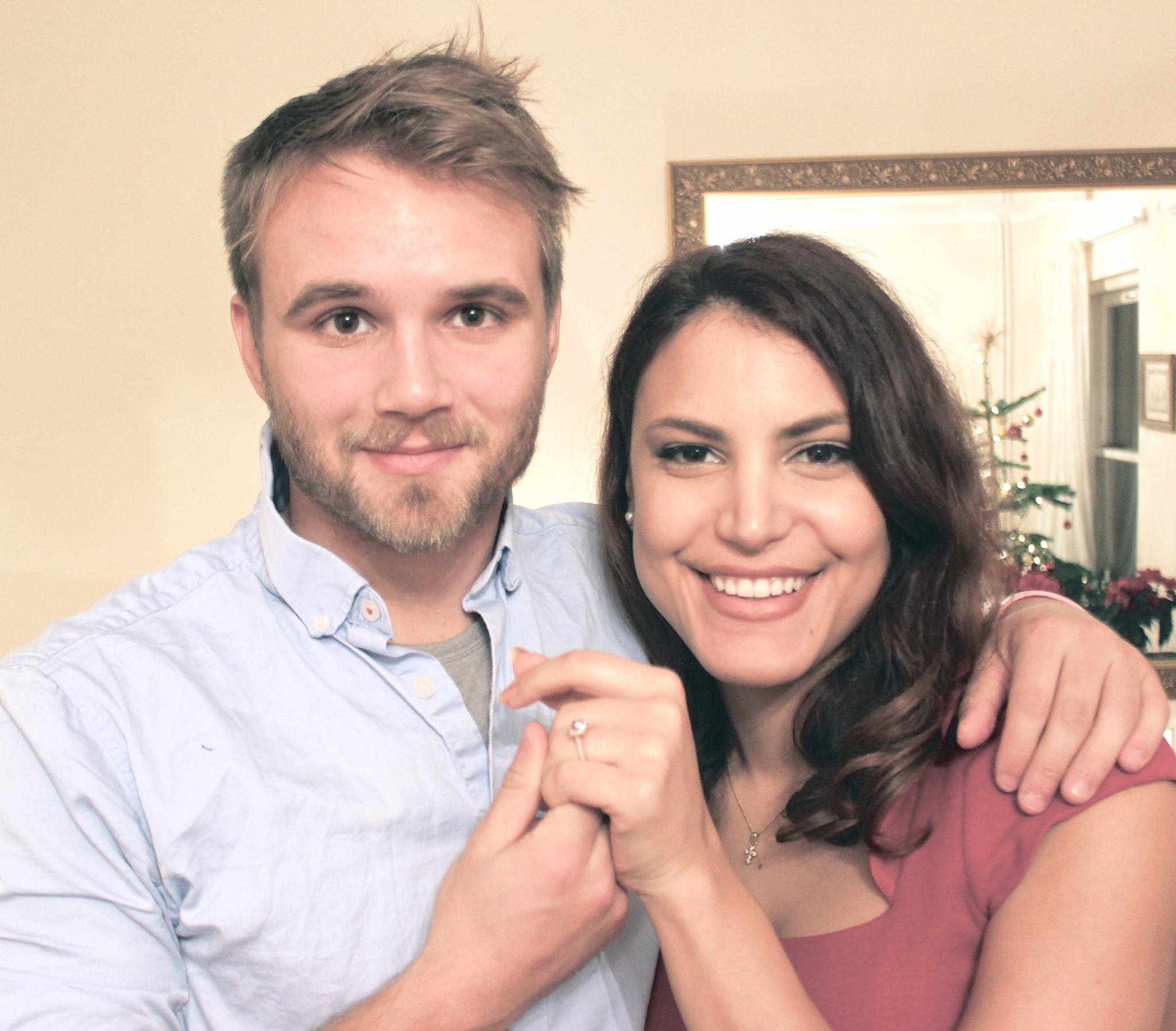 Cute Engaged Couple